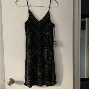 Express beaded cocktail dress